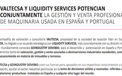 Valtecsa y Liquidity Services: acuerdo estratégico