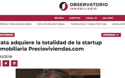 Krata adquiere la totalidad de la startup inmobiliaria Precioviviendas.com (Observatorio Inmobiliario)