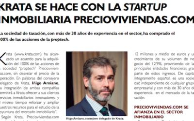 Krata adquiere la totalidad de la startup inmobiliaria Precioviviendas.com (El Inmobiliario Mes a Mes)