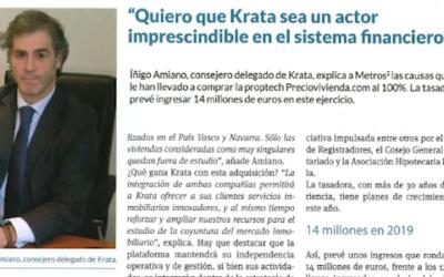 Entrevista a Iñigo Amiano, Consejero Delegado de Krata (Metros 2)