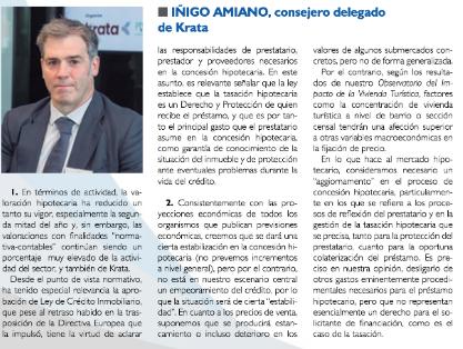 Balance del año 2019 por Iñigo Amiano (El Inmobiliario Mes a Mes)